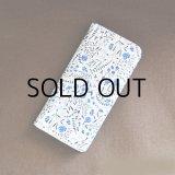 iPhone6sケース・手帳型: おしゃれ かわいい:リバティ・リリアンズ・ベリーズ(ブルー)  iPhone6  iPhone6s
