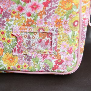 画像4: 通園バッグ ショルダーバッグ 幼稚園バッグ:リバティ・ マーガレットアニー(オレンジ&ピンク)  おしゃれ かわいい