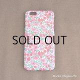 iPhone6 ケース: おしゃれ かわいい:リバティ・ペタル&バッド(ピンク)