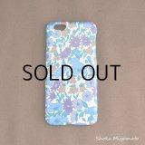 iPhone6 ケース: おしゃれ かわいい:リバティ・ポピー&デイジー(ブルー)