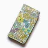 iPhoneSE iPhone5sケース 手帳型  リバティ・マーガレットアニー(グリーン)おしゃれ  かわいい マグネットを使わないのでカード安全
