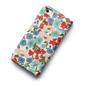 画像3: iPhone6sケース・手帳型 リバティ・ポピー&デイジー(ライトブルー) おしゃれ  かわいい マグネットを使わないのでカード安全
