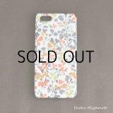 iPhone5/5sケース: おしゃれ かわいい:リバティ・ニナ・テイラー(オレンジ)