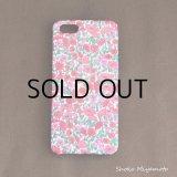 iPhone5/5sケース: おしゃれ かわいい:リバティ・ペタル&バッド(ピンク)