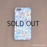 iPhone5/5sケース: おしゃれ かわいい:リバティ・ポピー&デイジー(ブルー)