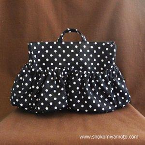 画像2: マザーズバッグインバッグ: おしゃれ かわいい:白黒ドット