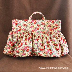 画像2: マザーズバッグインバッグ: おしゃれ かわいい:リバティ・クレアオード(レッド)