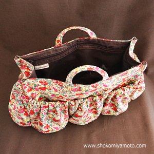 画像4: マザーズバッグインバッグ: おしゃれ かわいい:リバティ・クレアオード(レッド)