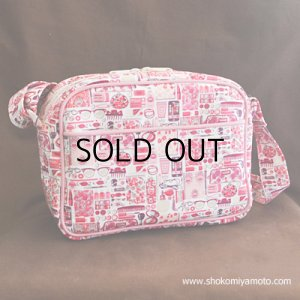 画像1: 通園バッグ: おしゃれ かわいい:リバティ・ フォゲット・ミー・ノット(ピンク)