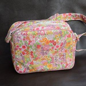 画像3: 通園バッグ ショルダーバッグ 幼稚園バッグ:リバティ・ マーガレットアニー(オレンジ&ピンク)  おしゃれ かわいい