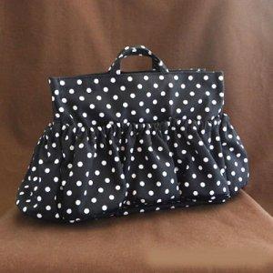 画像1: マザーズバッグインバッグ: おしゃれ かわいい:白黒ドット