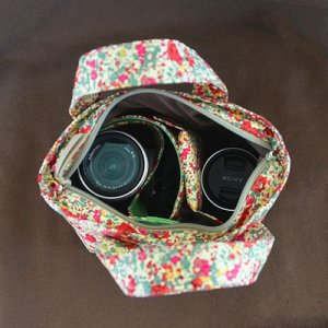 画像5: ミラーレス用カメラバッグ ビデオカメラバッグ・2Wayミニトート : おしゃれ かわいい:リバティ・スモールスザンヌ(イエロー)