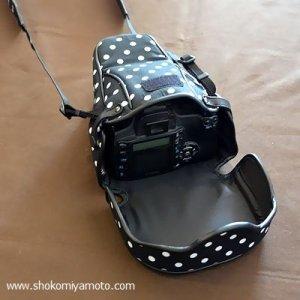 画像5: カメラケース 一眼レフ/ミラーレス 4サイズ リバティ・マーガレットアニー(ネイビー) ※アクリル・コーティング・オプション対応 かわいい おしゃれ