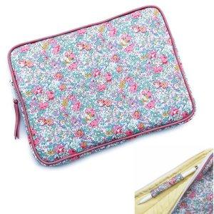 画像1: 【送料無料】iPad Proケース 10.5 /12.9 iPadケース 9.7 Apple Pencil ホルダーつき リバティ  クレアオード(ピンク) おしゃれ かわいい