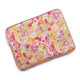 【送料無料】iPad Proケース 10.5 /12.9 iPadケース 9.7 Apple Pencil ホルダーつき リバティ・マーガレットアニー(オレンジ&ピンク) おしゃれ かわいい