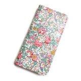 【送料無料】iPhone XR iPhone XS iPhone X ケース手帳型  リバティ クレアオード (ピンク) SHOKO MIYAMOTO おしゃれ かわいい マグネット無しでカード安全 スマホケース アイフォンケース Liberty