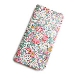 画像1: 【送料無料】iPhone XS iPhone X ケース手帳型  リバティ クレアオード (ピンク) SHOKO MIYAMOTO おしゃれ かわいい マグネット無しでカード安全 スマホケース アイフォンケース Liberty