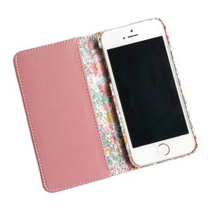 画像2: 【送料無料】iPhoneSEケース iPhone5sケース手帳型 リバティ クレアオード (ピンク)  SHOKO MIYAMOTO おしゃれ かわいい マグネット無しでカード安全 スマホケース アイフォンケース Liberty