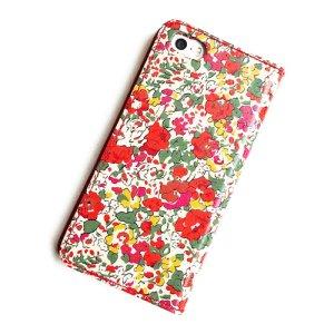 画像3: 【送料無料】iPhone8 Plusケース iPhone7 Plusケース iPhone6s Plusケース手帳型 リバティ クレアオード (レッド) SHOKO MIYAMOTO おしゃれ かわいい マグネット無しでカード安全 スマホケース アイフォンケース Liberty