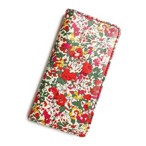 画像1: 【送料無料】iPhone8ケース iPhone7ケース手帳型 リバティ クレアオード (レッド)  SHOKO MIYAMOTO おしゃれ かわいい マグネット無しでカード安全 スマホケース アイフォンケース Liberty