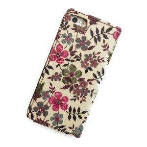 画像3: 【送料無料】iPhone8ケース iPhone7ケース手帳型 リバティ エデナム(ワインカラー)  SHOKO MIYAMOTO おしゃれ かわいい マグネット無しでカード安全 スマホケース アイフォンケース Liberty