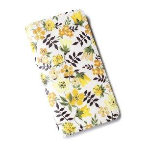 画像1: 【送料無料】iPhone6sケース手帳型 リバティ エデナム(イエロー) ワントーンシリーズ SHOKO MIYAMOTO おしゃれ かわいい マグネット無しでカード安全 スマホケース アイフォンケース Liberty