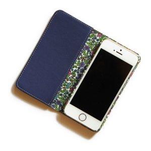 画像2: 【送料無料】iPhone XR iPhone XS iPhone X ケース・手帳型:リバティ・エミリアズ・フラワーズ(パープル)おしゃれ  かわいい マグネットを使わないのでカード安全