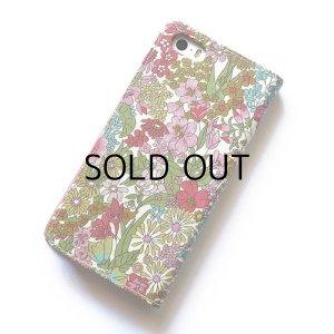 画像3: 【送料無料】iPhoneSE(第1世代)ケース iPhone5sケース  リバティ・マーガレットアニー(ピンク)おしゃれ かわいい マグネットを使わないのでカード安全  スマホケース アイフォンケース