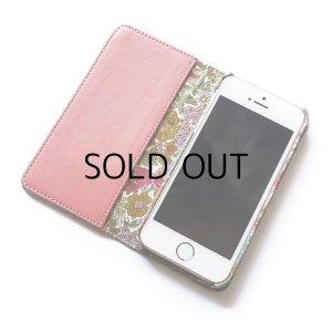 画像2: 【送料無料】iPhoneSE(第1世代)ケース iPhone5sケース  リバティ・マーガレットアニー(ピンク)おしゃれ かわいい マグネットを使わないのでカード安全  スマホケース アイフォンケース