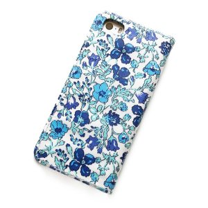 画像3: 【送料無料】iPhone6sケース手帳型 リバティ メドゥ (ブルー)ワントーンシリーズ SHOKO MIYAMOTO おしゃれ かわいい マグネット無しでカード安全 スマホケース アイフォンケース Liberty