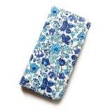 【送料無料】iPhone XR iPhone XS iPhone X ケース手帳型  リバティ メドゥ (ブルー)ワントーンシリーズ SHOKO MIYAMOTO おしゃれ かわいい マグネット無しでカード安全 スマホケース アイフォンケース Liberty