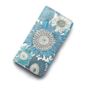 画像1: 【送料無料】iPhone6s Plusケース・手帳型: リバティ・スモールスザンナ(ブルー)  おしゃれ  かわいい マグネットを使わないのでカード安全