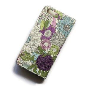 画像3: 【送料無料】iPhone8ケース iPhone7ケース・手帳型 リバティ・スモールスザンナ(パープル) おしゃれ  かわいい マグネットを使わないのでカード安全