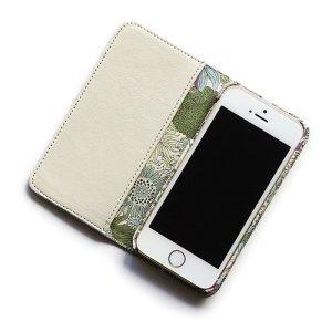 画像2: 【送料無料】iPhone XS Max iPhone8 Plus iPhone7 Plus iPhone6s Plus ケース 手帳型  リバティ・スモールスザンナ(パープルII)おしゃれ  かわいい マグネットを使わないのでカード安全