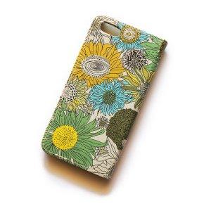 画像3: 【送料無料】iPhone6sケース・手帳型:リバティ・スモールスザンナ(イエローII)おしゃれ  かわいい マグネットを使わないのでカード安全