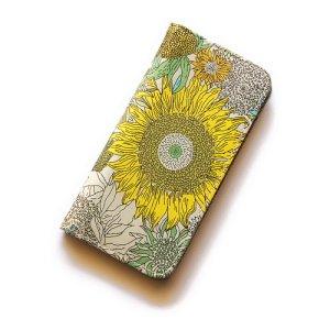 画像1: 【送料無料】iPhone6sケース・手帳型:リバティ・スモールスザンナ(イエローII)おしゃれ  かわいい マグネットを使わないのでカード安全
