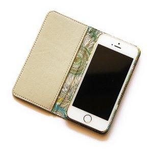 画像2: 【送料無料】iPhoneSE(第1世代)ケース iPhone5sケース 手帳型 リバティ・スモールスザンナ(イエローII)おしゃれ かわいい マグネットを使わないのでカード安全  スマホケース アイフォンケース
