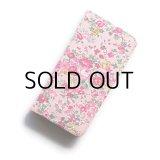 【送料無料】iPhone8ケース iPhone7ケース・手帳型 リバティ・テイタム(ピンク) おしゃれ  かわいい マグネットを使わないのでカード安全
