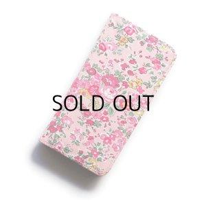 画像1: 【送料無料iPhoneSE(第1世代)ケース iPhone5sケース手帳型  リバティ・テイタム(ピンク)おしゃれ  かわいい マグネットを使わないのでカード安全  スマホケース アイフォンケース