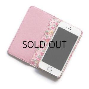 画像2: 【送料無料iPhoneSE(第1世代)ケース iPhone5sケース手帳型  リバティ・テイタム(ピンク)おしゃれ  かわいい マグネットを使わないのでカード安全  スマホケース アイフォンケース
