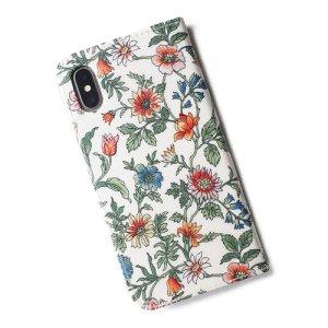 画像3: 【送料無料】iPhone XR iPhone XS iPhone X ケース手帳型  リバティ タイガーリリー(オレンジ) SHOKO MIYAMOTO おしゃれ かわいい マグネット無しでカード安全 スマホケース アイフォンケース Liberty