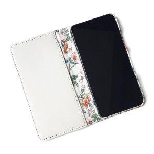 画像2: 【送料無料】iPhone XR iPhone XS iPhone X ケース手帳型  リバティ タイガーリリー(オレンジ) SHOKO MIYAMOTO おしゃれ かわいい マグネット無しでカード安全 スマホケース アイフォンケース Liberty