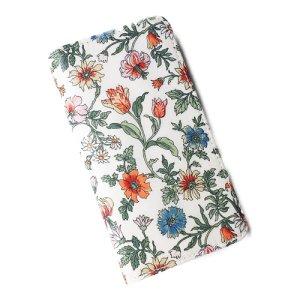 画像1: 【送料無料】iPhoneSE(第1世代)ケース iPhone5sケース手帳型 リバティ タイガーリリー (オレンジ)  SHOKO MIYAMOTO おしゃれ かわいい マグネット無しでカード安全 スマホケース アイフォンケース Liberty