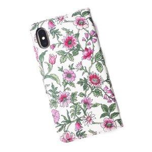 画像3: 【送料無料】iPhone XR iPhone XS iPhone X ケース手帳型  リバティ タイガーリリー(ピンク) SHOKO MIYAMOTO おしゃれ かわいい マグネット無しでカード安全 スマホケース アイフォンケース Liberty