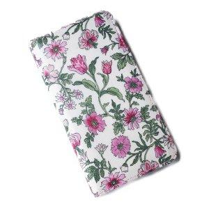 画像1: 【送料無料】iPhone XR iPhone XS iPhone X ケース手帳型  リバティ タイガーリリー(ピンク) SHOKO MIYAMOTO おしゃれ かわいい マグネット無しでカード安全 スマホケース アイフォンケース Liberty