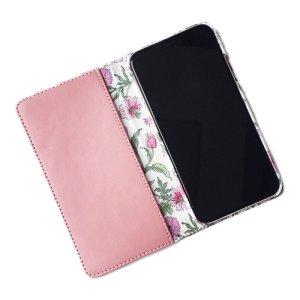 画像2: 【送料無料】iPhone XR iPhone XS iPhone X ケース手帳型  リバティ タイガーリリー(ピンク) SHOKO MIYAMOTO おしゃれ かわいい マグネット無しでカード安全 スマホケース アイフォンケース Liberty