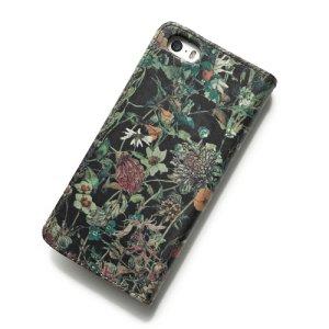 画像3: 【送料無料】iPhoneSEケース iPhone5sケース手帳型 リバティ・ワイルドフラワーズ(ダークブラウン)  おしゃれ  かわいい マグネットを使わないのでカード安全  スマホケース アイフォンケース  スマホケース