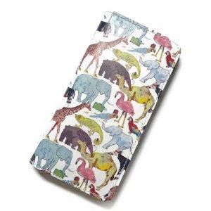 画像1: 【送料無料】iPhone6sケース手帳型 リバティ・キュー・フォー・ザ・ズー(ライトブルー) SHOKO MIYAMOTO おしゃれ かわいい マグネット無しでカード安全 スマホケース アイフォンケース Liberty