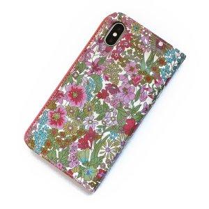 画像5: 【送料無料】iPhone XR iPhone XS iPhone X ケース・手帳型:リバティ・エミリアズ・フラワーズ(パープル)おしゃれ  かわいい マグネットを使わないのでカード安全