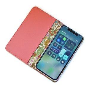画像4: 【送料無料】iPhone XR iPhone XS iPhone X ケース 手帳型 リバティ・エマーライン(ブルー)  おしゃれ  かわいい マグネットを使わないのでカード安全  スマホケース アイフォンケース